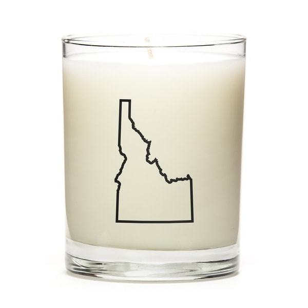 State Outline Candle, Premium Soy Wax, Idaho, Fresh Linen