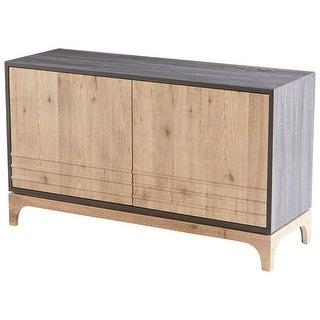 "Cyan Design 09889  Mabel 47-1/4"" Wide 2 Door Wood Accent Cabinet - Oak / Taupe"