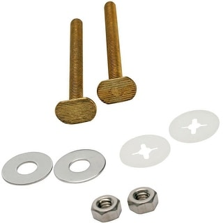"""Fluidmaster 7111  3"""" Toilet Bowl Bolts Set of 2 with Nuts and Washers"""