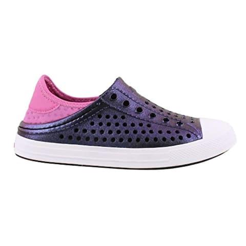 Skechers Girl'S, Guzman Steps Slip On Shoes Purple Hot Pink 5 M