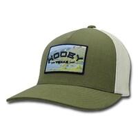 d7462290880 Shop HOOey Western Hat Mens Mully Flex Fit Pinstripe Gray Black 1799 ...