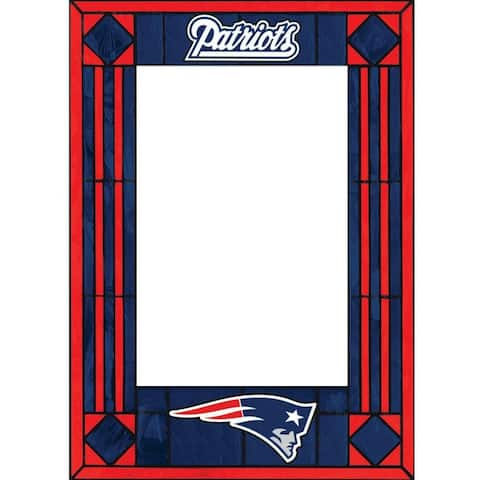 New England Patriots Art Glass Vertical Picture Frame