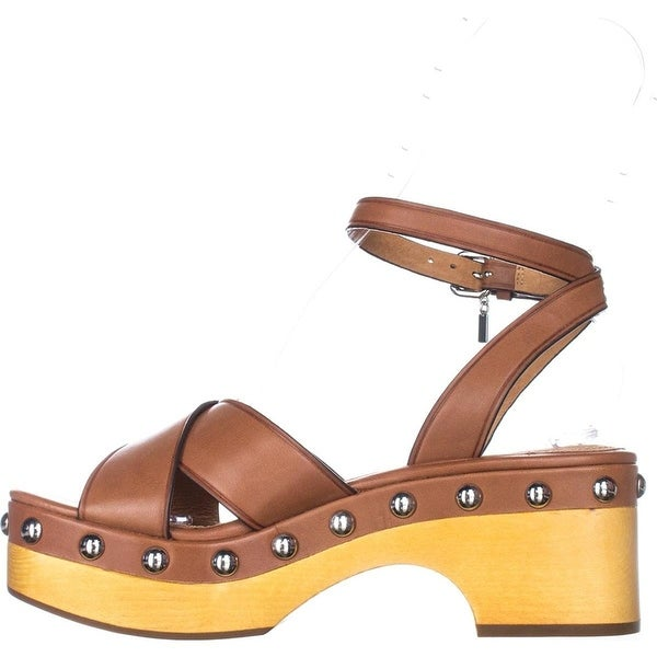 Coach Womens Astor Leather Open Toe Casual Platform Sandals