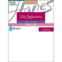 Hanes Silk Reflections Plus Sheer Control Top Enhanced Toe Pantyhose - Size - PP - Color - Natural - Nude