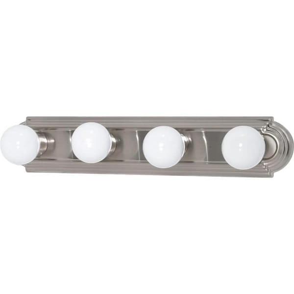 "Nuvo Lighting 60/301 4 Light 24"" Wide ADA Approved Vanity Strip with White Glass Shades"