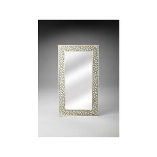 BUTLER 3479321 36.5 in. Bone Inlay Wall Mirror