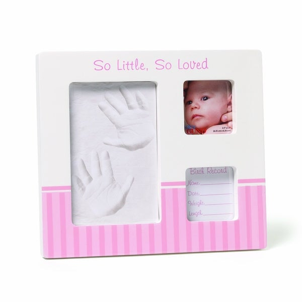 Gund Baby Hand and Footprint Picture Frame Pink