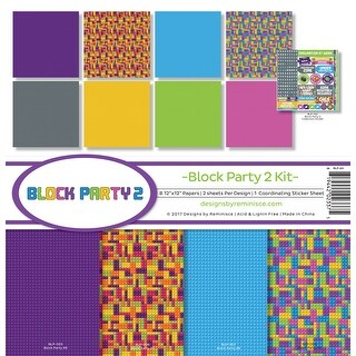 """Reminisce Collection Kit 12""""X12""""-Block Party 2"""