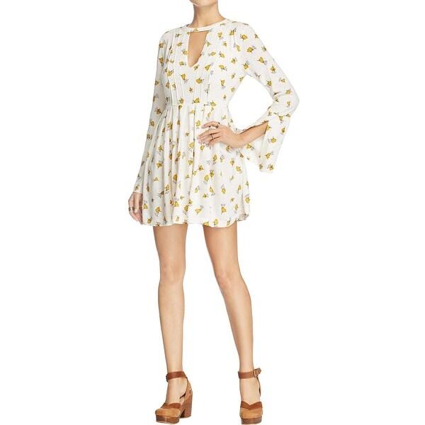 9125ff728d585 Shop Free People Womens Tegan Casual Dress Printed Cutout - Free ...