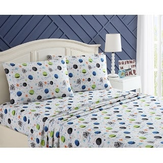 Link to Asher Home Kids Far Out Galaxy Sheet Set Similar Items in Kids Comforter Sets