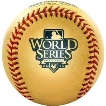 2010 World Series 24 Karat Gold Leather Official Major League Team Logo Baseball Giants Vs Rangers