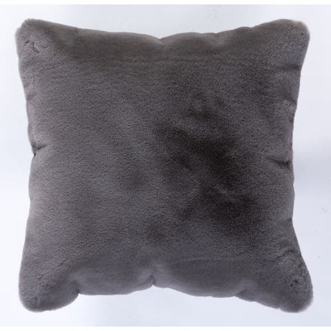 "Faux Rabbit Collection Solid Square Pillow - (20"" x 20"")"