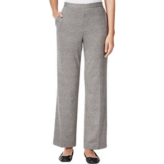 Alfred Dunner Womens Plus Wide Leg Pants Pull-On Stretch