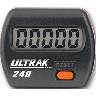 Ultrak 240 - Electronic Step Counter Pedometer - Black