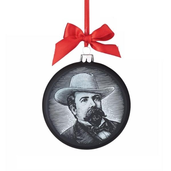 "Department 56 ""Jack Daniel's Image"" Glass Christmas Ornament #4052183 - black"