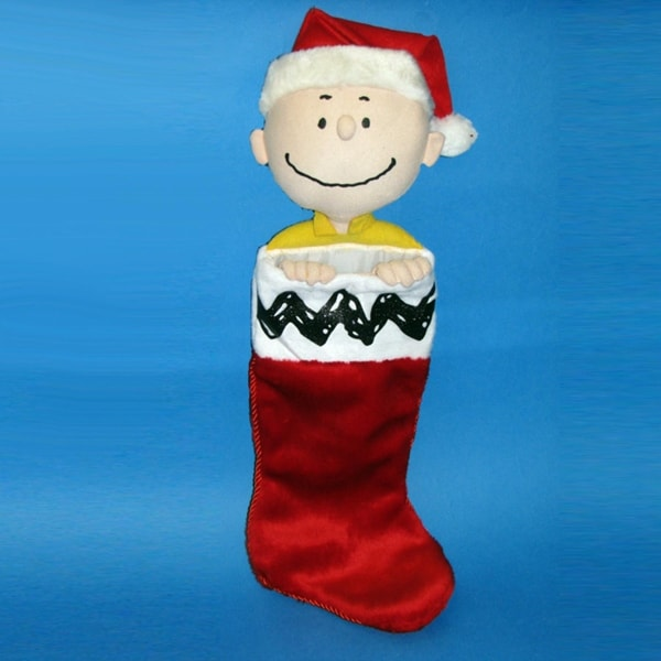 """Shop Pack of 4 Peanuts Charlie Brown Plush Head Christmas Stockings 21"""" - multi - Free Shipping On Orders Over $45 - Overstock - 16656819"""