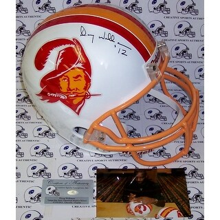 Doug Williams Hand Signed Tampa Bay Buccaneers Throwback Full Size Helmet PSADNA