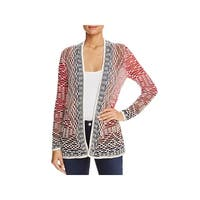 Nic + Zoe Womens Fireside Cardigan Sweater Textured Open Front