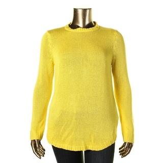 Lauren Ralph Lauren Womens Knit Open Stitch Pullover Sweater