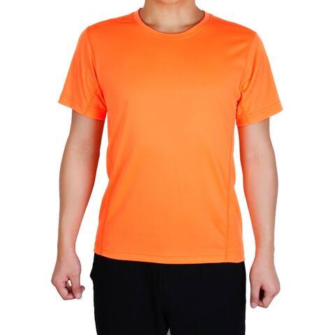 Adult Men Short Sleeve Clothes Casual Wear Tee Biking Sports T-shirt Orange L