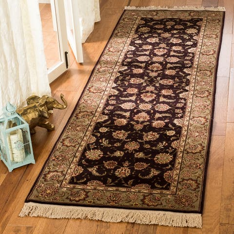 Safavieh Couture Hand-knotted Tabriz Floral Harry Traditional Oriental Wool Rug