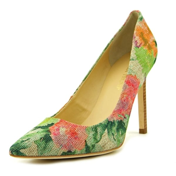 Ivanka Trump Carra 3   Pointed Toe Canvas  Heels