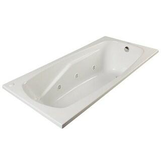 "ProFlo PFWPLUSA6032 60"" x 32"" Drop In 8 Jet Whirlpool Bath Tub"