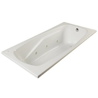 """ProFlo PFWPLUSA6036 60"""" x 36"""" Whirlpool Bathtub with 8 Hydro Jets and EasyCare Acrylic - Drop In or Alcove Installation"""