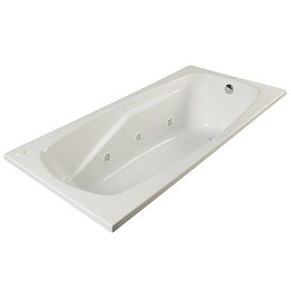 """ProFlo PFWPLUSA6042 60"""" x 42"""" Whirlpool Bathtub with 8 Hydro Jets and EasyCare Acrylic - Drop In or Alcove Installation"""