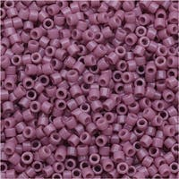 Miyuki Duracoat Delica, Japanese 11/0 Seed Beads, 7.2g Tube, Opaque Hydrangea Purple DB2137