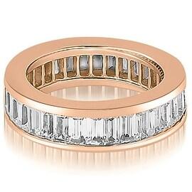 6.00 cttw. 14K Rose Gold Baguette Diamond Eternity Ring