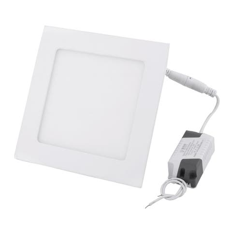 Warm White 9W Square Bedroom Dimmable LED Recessed Ceiling Panel Light AC85-265V