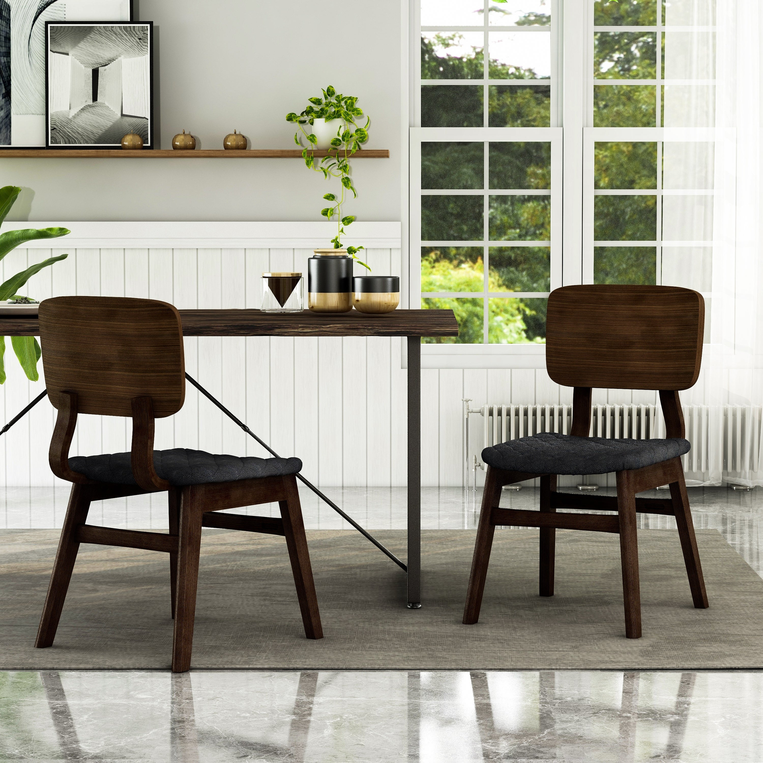 Picture of: Shop Black Friday Deals On Carson Carrington Kardamili Mid Century Modern Dining Chairs Set Of 2 Overstock 24300904