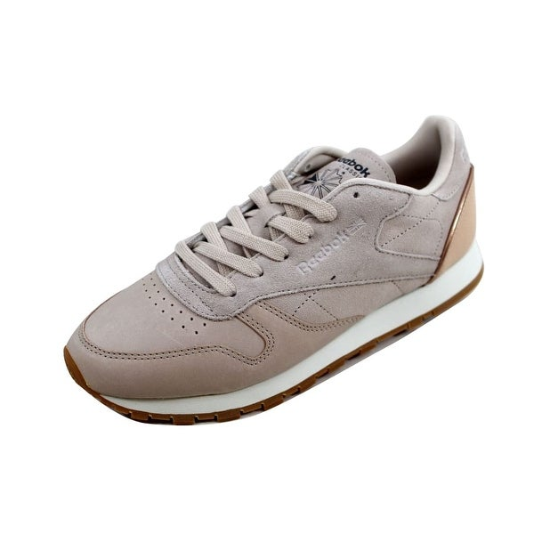 56e0772c0ee ... Trainer SandtrapRose Gold Trainers Reebok  new arrive c959b eb629 Reebok  Womenx27s Classic Leather Golden Neutrals SandtrapRose Gold-Chalk ...