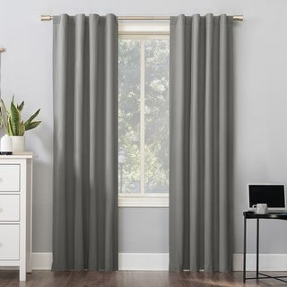 Link to Sun Zero Cyrus Thermal Total Blackout Back Tab Curtain Panel Similar Items in Window Treatments