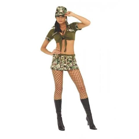 Booty Camp Army Soldier size S Camo Womens Costume Secret Wishes