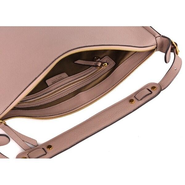 Roberto Cavalli Womens Powder Pink Leather Tusk Hobo Shoulder Bag~RTL$1695