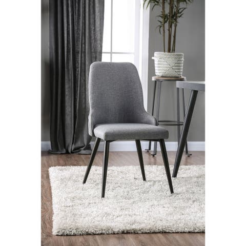 Furniture of America Soso Contemporary Grey Side Chairs (Set of 2)
