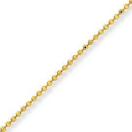 Chisel Yellow Rhodium over Brass 2.00mm Plated Ball Chain - 18 Inches (2 mm) - 18 in