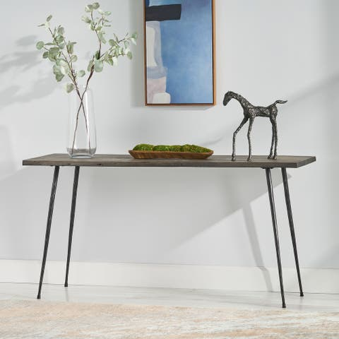Chesley Acacia Wood Console Table by Christopher Knight Home