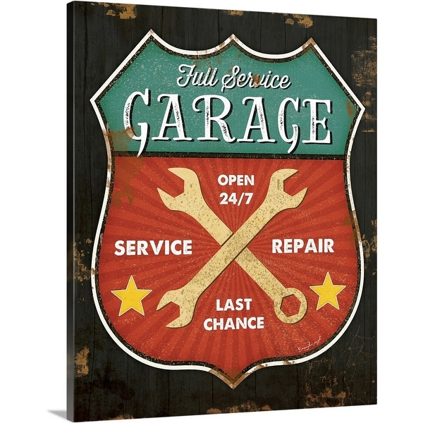 """Full Service Garage"" Canvas Wall Art"