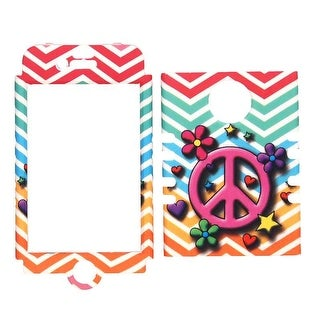 Unlimited Cellular Rocker Snap-On Case for Apple iPhone 4/4S (Peace Sign and Flo