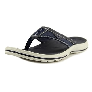 Dockers Waldport Men  Open Toe Canvas Blue Thong Sandal