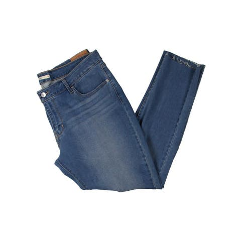 Levi Strauss & Co. Womens Skinny Jeans Distresse Denim - Medium - 18