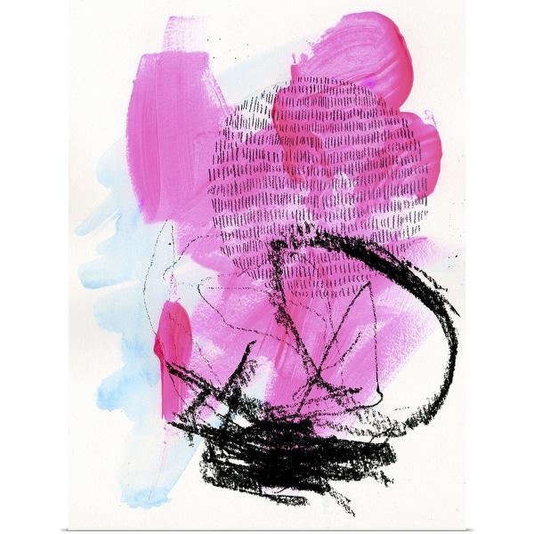 """Neon Flamingos II"" Poster Print"
