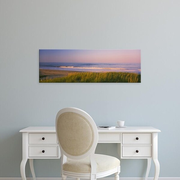 Easy Art Prints Panoramic Image 'Marram grass, Beach, Parker River Wildlife Refuge, Newbury, Massachusetts' Canvas Art