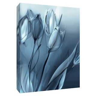 "PTM Images 9-148429  PTM Canvas Collection 10"" x 8"" - ""Indigo Tulip II"" Giclee Flowers Art Print on Canvas"