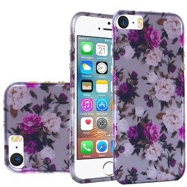 Insten Roses Hard Snap-on Rubberized Matte Case Cover For Apple iPhone 5/ 5S/ SE