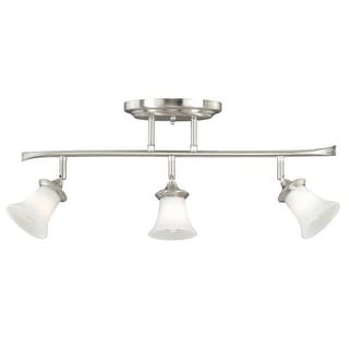 Vaxcel Lighting C0012 Sonora 3 Light Flush Mount Indoor Ceiling Fixture with Frosted Glass Shade - 5 Inches Wide