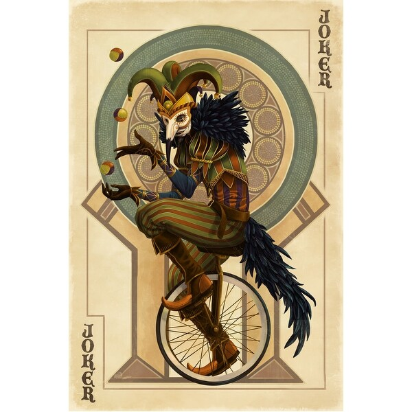 Joker - Playing Card - LP Artwork (Cotton/Polyester Chef's Apron)